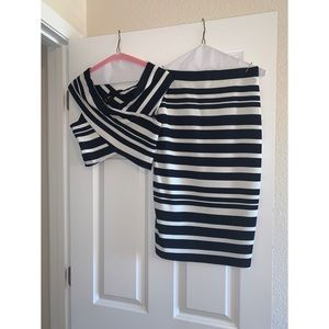Dresses & Skirts - Two piece set Navy blue and cream